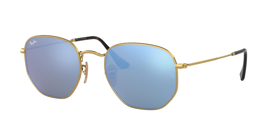 Ray Ban RB3548N 001/9O Hexagonal